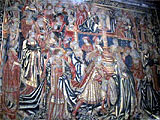 A hanging tapestry c1500 in the Great Hall