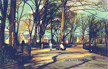 An old postcard impression of The Lady's Walk